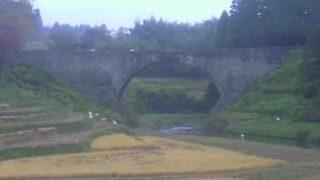 通潤橋の周辺ライブカメラと雨雲レーダー/熊本県山都町