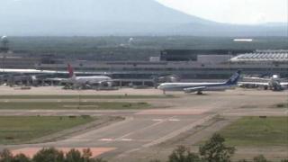新千歳空港ライブカメラ(HBC)と雨雲レーダー/北海道千歳市