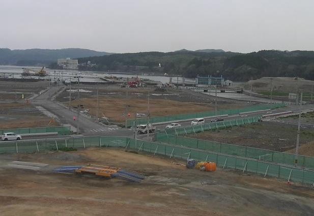 志津川ライブカメラと気象レーダー/宮城県南三陸町