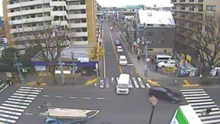 停止中:国道20号 八幡山甲州街道ライブカメラと雨雲レーダー/東京都杉並区