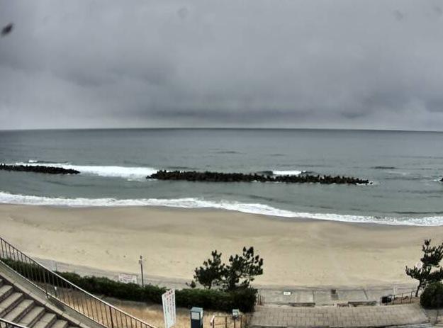 キララビーチライブカメラと雨雲レーダー/島根県出雲市