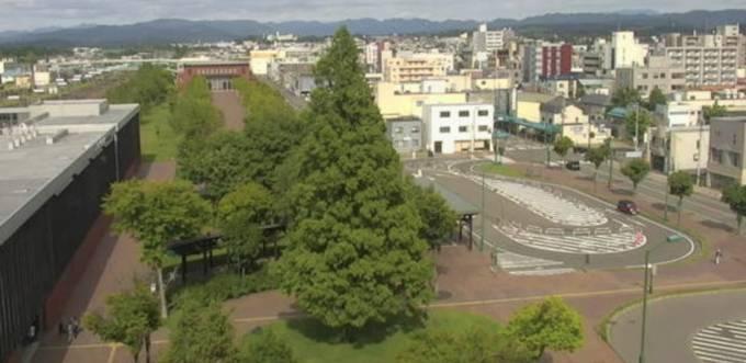 JR岩見沢駅 ライブカメラ(HBC)と雨雲レーダー/北海道岩見沢市