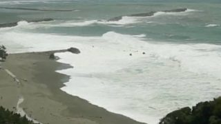 停止中:台風20号 高知市桂浜 特設ライブカメラ(ウェザーニュース)と気象レーダー/高知県高知市